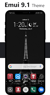 Dark Emui-9.1 Theme for Huawei Screenshot