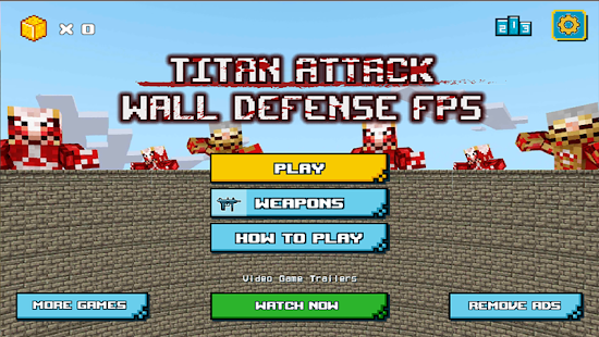 Titan Attack: Wall Defense FPS - náhled
