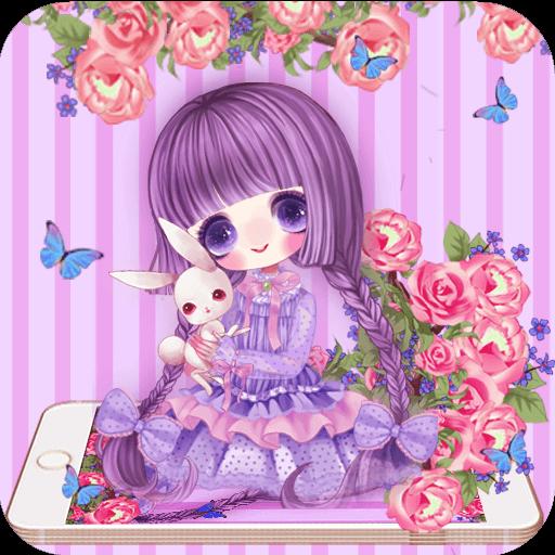 Rose Girl Purple Theme