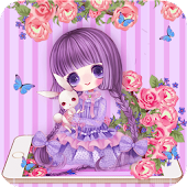 Rose Girl Purple Theme