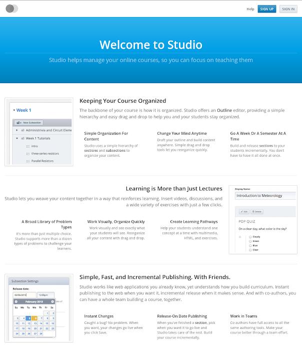 Figura 29 - Open edX Studio (CMS)