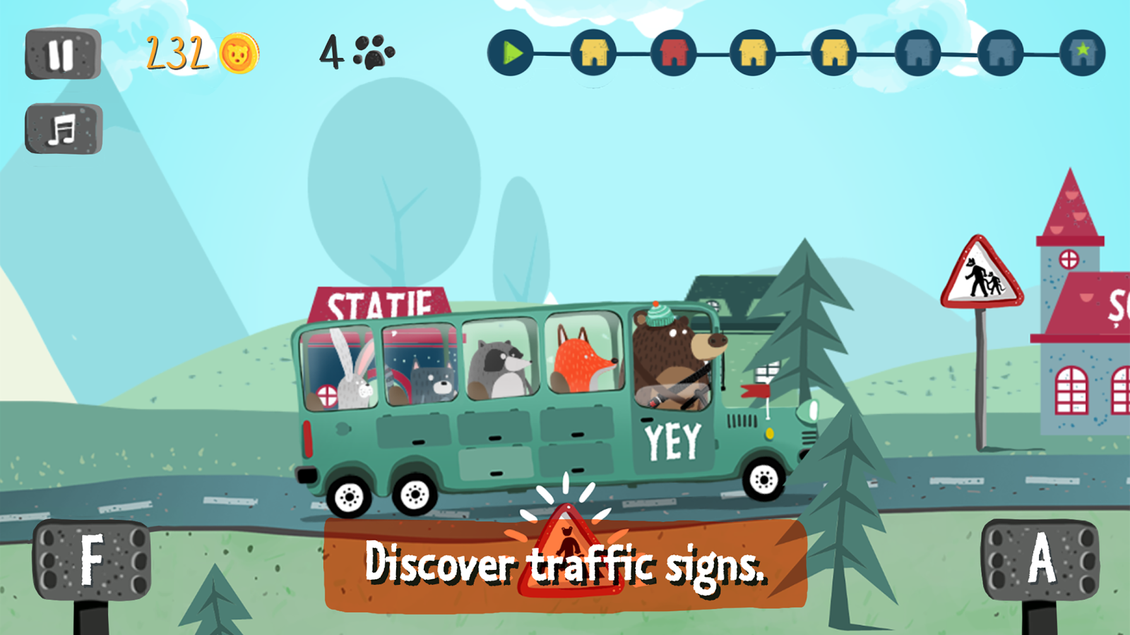 Mr. Bear Driver- screenshot