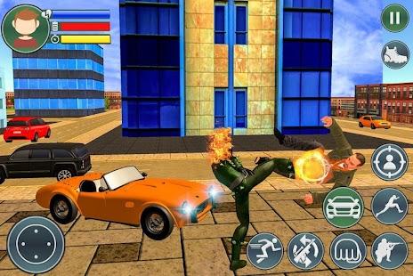 Ghost Fire Skull Superhero - Blaze Battle - náhled