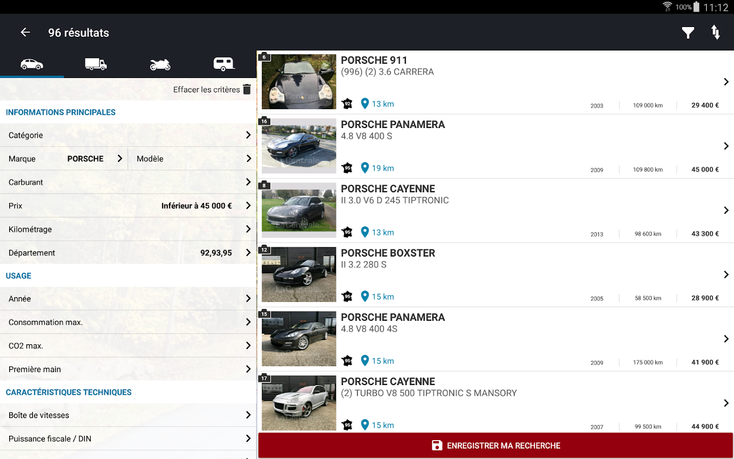 La Centrale voiture occasion- screenshot