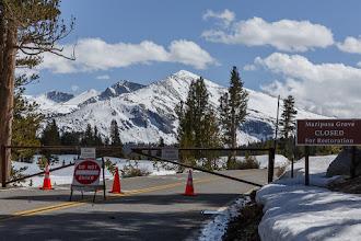 Photo: Tioga Pass Road closure, May 2016.
