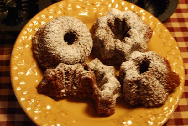 Chocolate Spice Zucchini Mini-bundt Cakes Recipe
