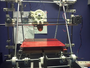 Photo: printer-bed mounted, and re-installed my Extruder as it was to low mounted before.. now it gives a little more space :)