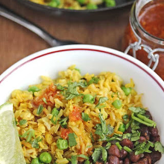 Burmese Fried Rice with Peas and Shallots.