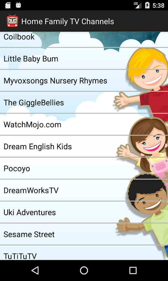 Home Family TV channels- screenshot