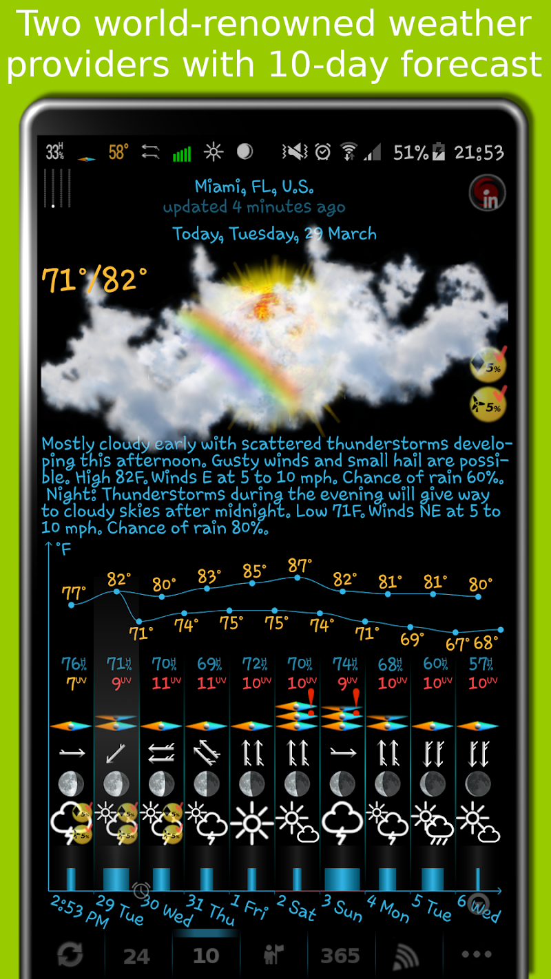 eWeather HD - weather, hurricanes, alerts, radar Screenshot 0