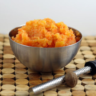 Mashed Rutabaga and Carrots.