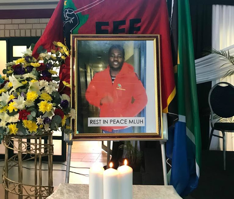 Durban University of Technology students held a memorial service on February 12 2019 in honour of Mlungisi Madonsela, who died after being shot in an altercation with security guards.