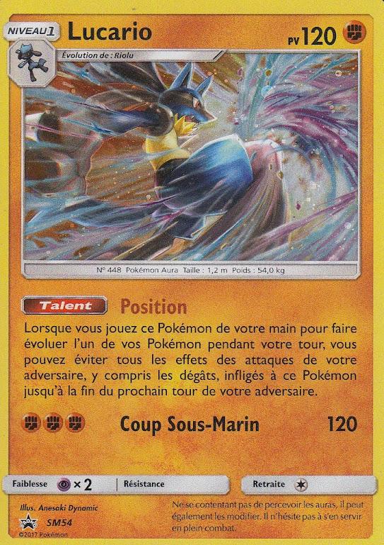 Lucario Holo Promo Carte Pokemon Neuve Française SM54 SL01
