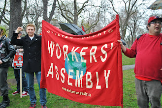 Photo: The Greater Toronto Workers' Assembly (GTWA) was also in attendance.