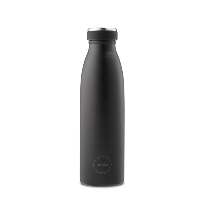 Ayaida insulated drinking bottle Matte Black, 500 ml