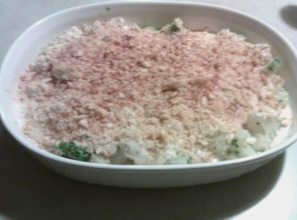 Golden Crumb Broccoli Cauliflower Recipe