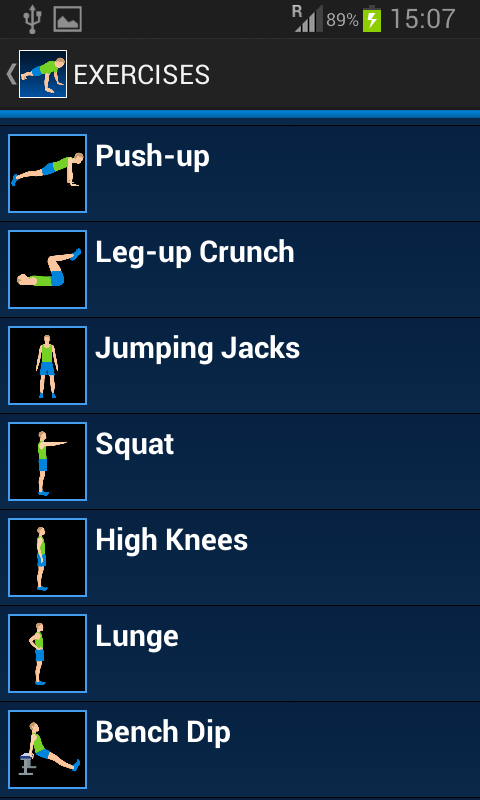 10 Daily Exercises Screenshot