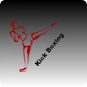 Kick boxing training icon