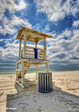 Photo: Lifeguard station at Gulf Shores beach on Tuesday, October 11,2011.