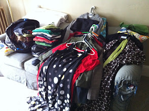 Photo: the first big clothing purge