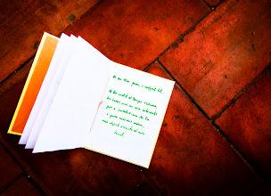 Photo: Fotos de la primera maqueta dels llibres artesans, amb la que va començar el projecte literari la primavera del 2002 a Manresa