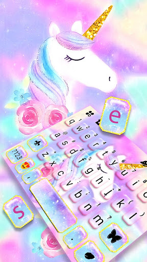 Pastel Unicorn Dream Keyboard Theme 1.0 2
