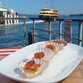 Seared Scallops with Sauce Vierge.