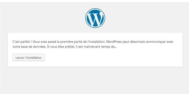 wordpress installé