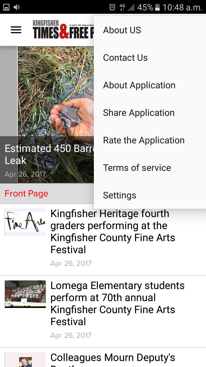 Скриншот KT&FP News, Kingfisher Press