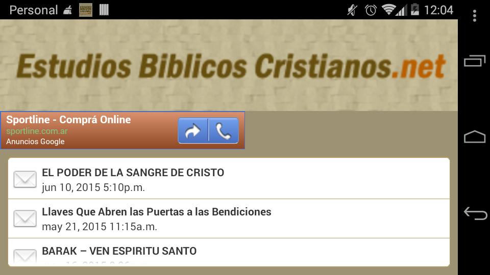 Estudios Biblicos Cristianos- screenshot