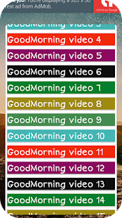 Good Morning Video Song Status 2018 - náhled