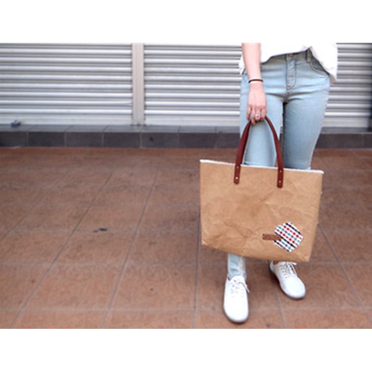 Patched Paper Tote Bag by Cha-mi's Handmade