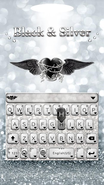 Blackandsliver Keyboard Theme Android App Screenshot