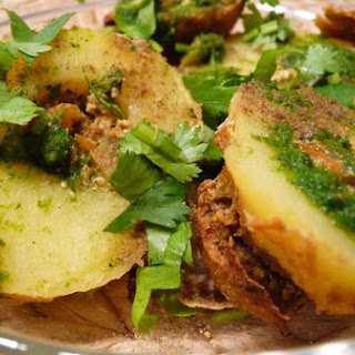 Baked Stuffed Potatoes (Tandoori Potatoes).