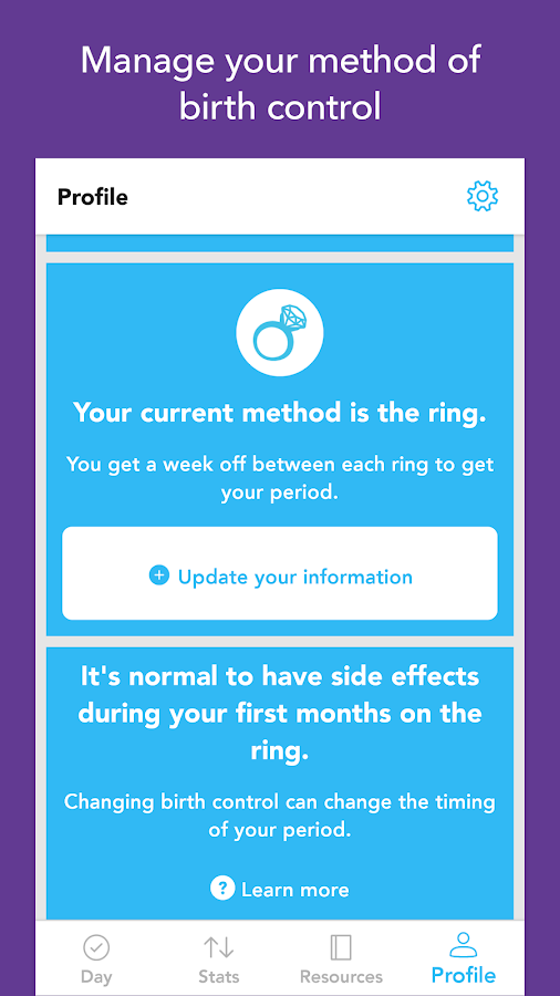 Spot On Birth Control Tracker- screenshot
