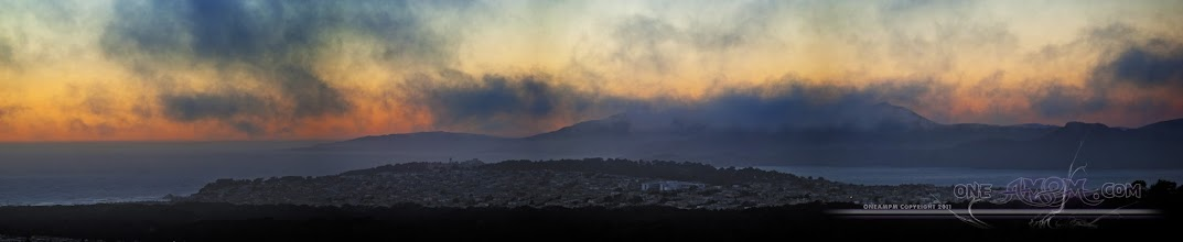 Photo: San Francisco Sunset - Mt Tam hiding in clouds