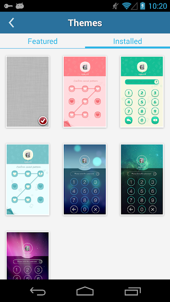 AppLock Theme Cube screenshot 2