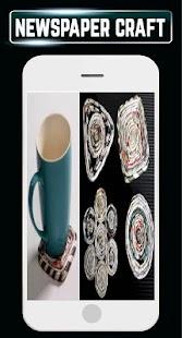 DIY Newspaper Recycle Home Craft Ideas Design Step - náhled