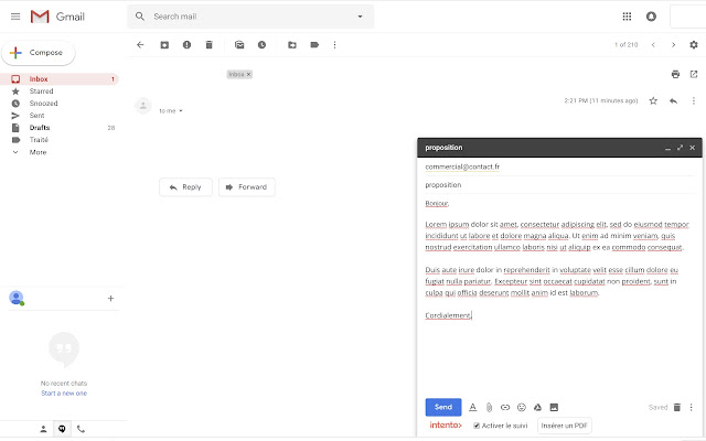 intento› Email Tracking