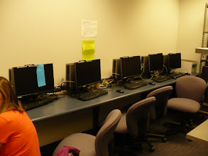 Photo: Secure computer lab for writing clinical reports for on site and telepractice sessions.
