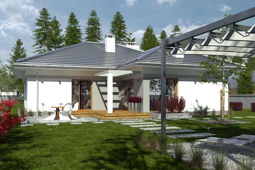 projekt Gracjan z garażem 1-st. A1