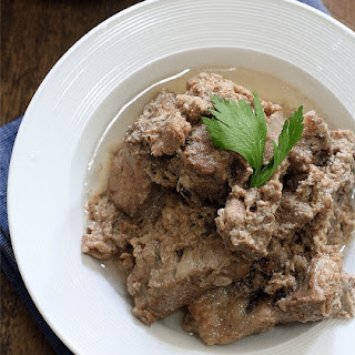 Pork Ribs Stewed in Coconut Milk (Ginataang Ribs).