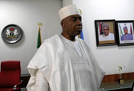 Nigerian senate president Bukola Saraki speaks in his office in Abuja, Nigeria, on July 24 2018. Picture: REUTERS