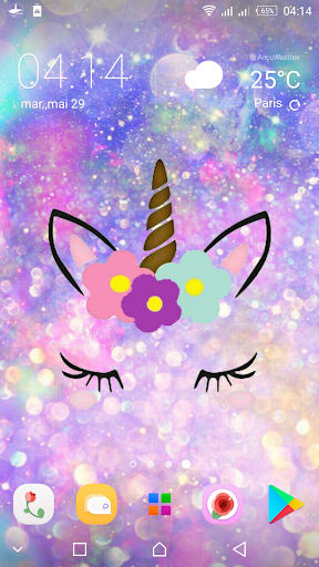 Cute Unicorn Girl Wallpapers Kawaii Backgrounds By Kawaii Apps