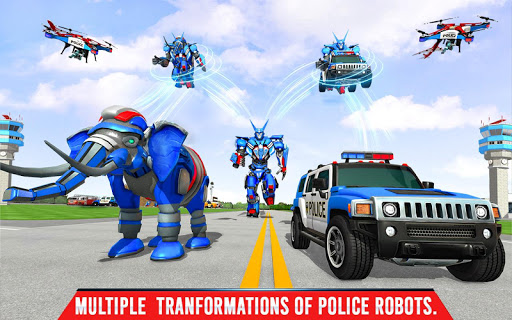 Police Elephant Robot Game: Police Transport Games 1.0.1 8