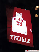 Photo: Tisdale was the first player in any sport to have his number retired at OU.