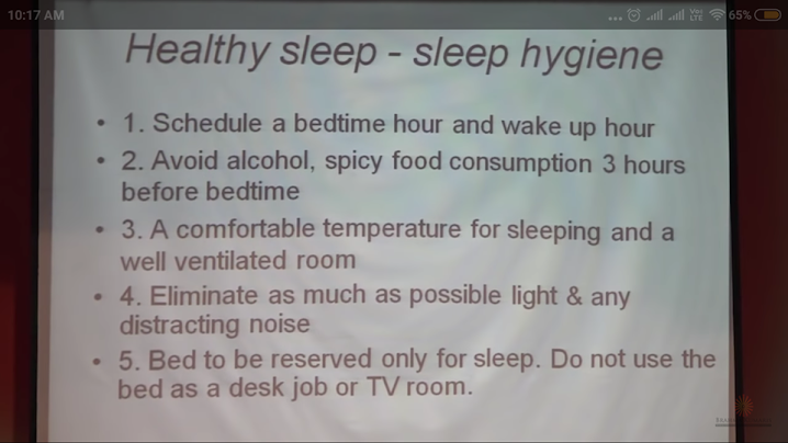 healthy sleep hygiene