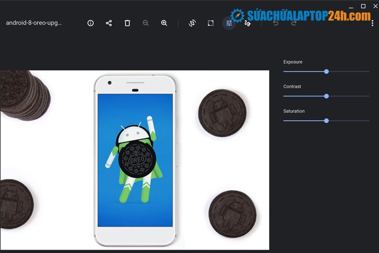 Ứng dụng Filestrên Chromebook sẵn trình chỉnh sửa hình ảnh
