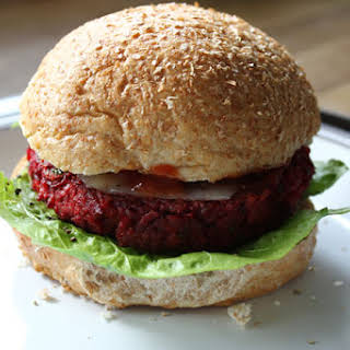 Beetroot And Chickpea Burger.