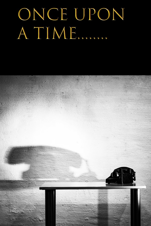The Old Telephone by Staffan Håkansson - Typography Captioned Photos ( shadow, black, telephone, text, table )